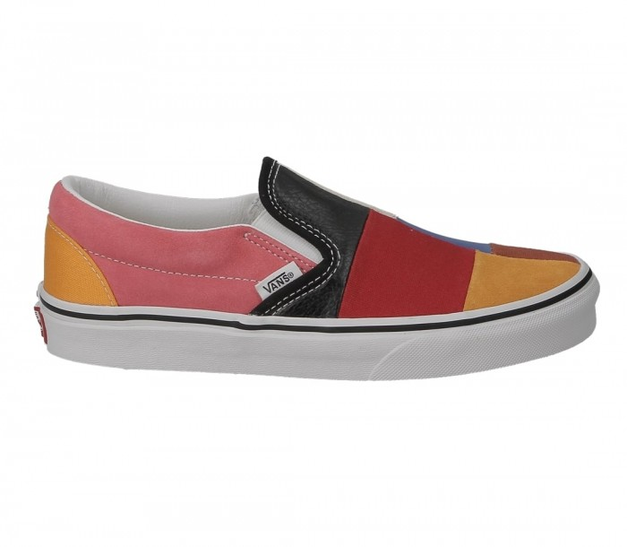 Vans classic slip on patchwork multi true white VN0A38F7VMF1