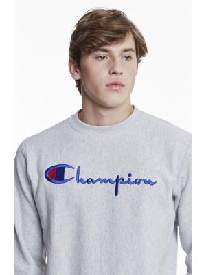 Champion Europe Sweatshirt big logo Crewneck 210975 s18 EM004 LOXGM Grey Limited Edition