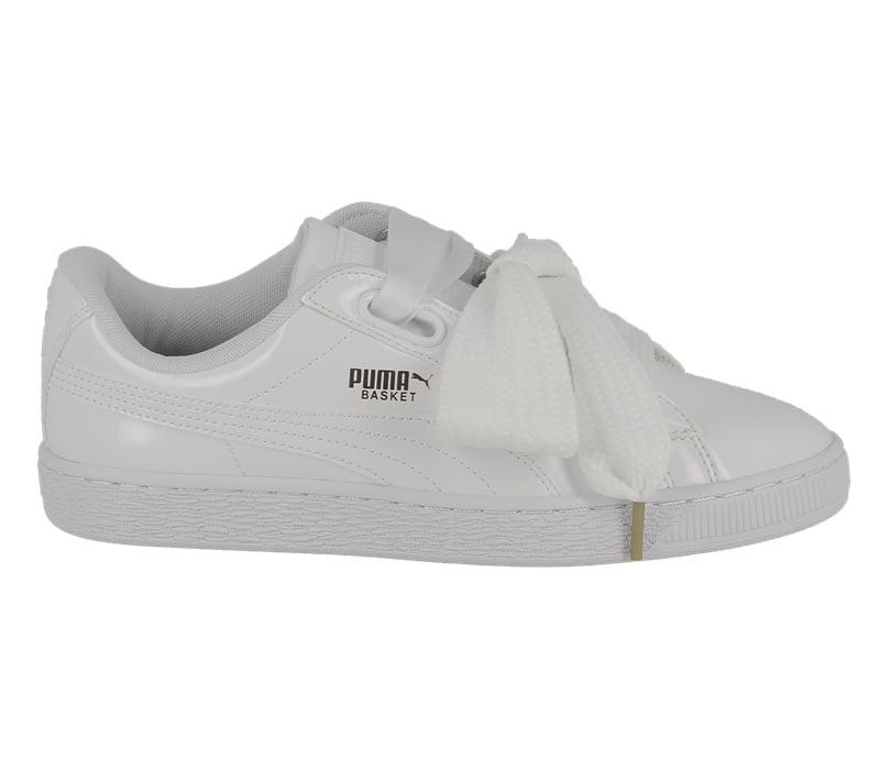 Puma Heart Patent White
