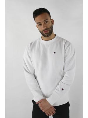 Champion Europe Sweatshirt small logo Crewneck 210965 WW001 white Limited Edition (apparel)