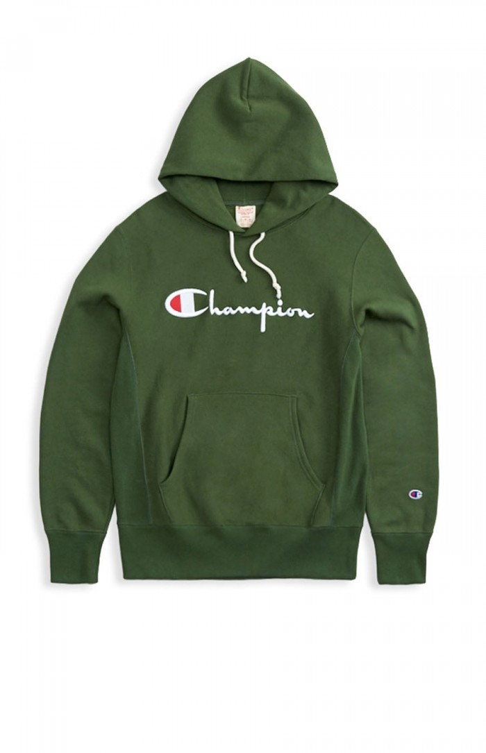 Sweatshirt Champion Europe hooded big logo 212574 GS536 BAF Green Limited Edition