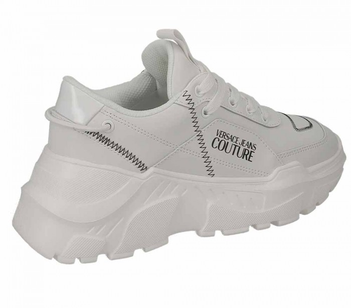 Versace Jeans Couture dame Linea Fondo Speed Dis.1 Leather Speed White E0VUBSC1 71263 003