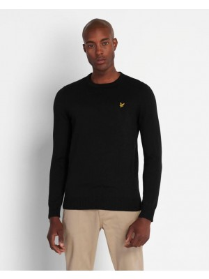Lyle & Scott crew Cotton Merino Jumper KN400VC Z865 Jet Black