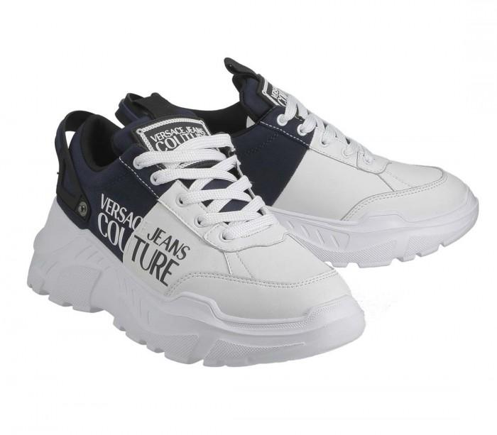 Basket Versace Jeans Couture Fondo Speedtrack Dis 6 71YA3SC2 ZS052 OE8 White Navy