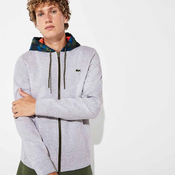 Sweatshirt Lacoste SH8594 4HV Silver Chiné Black Illumination