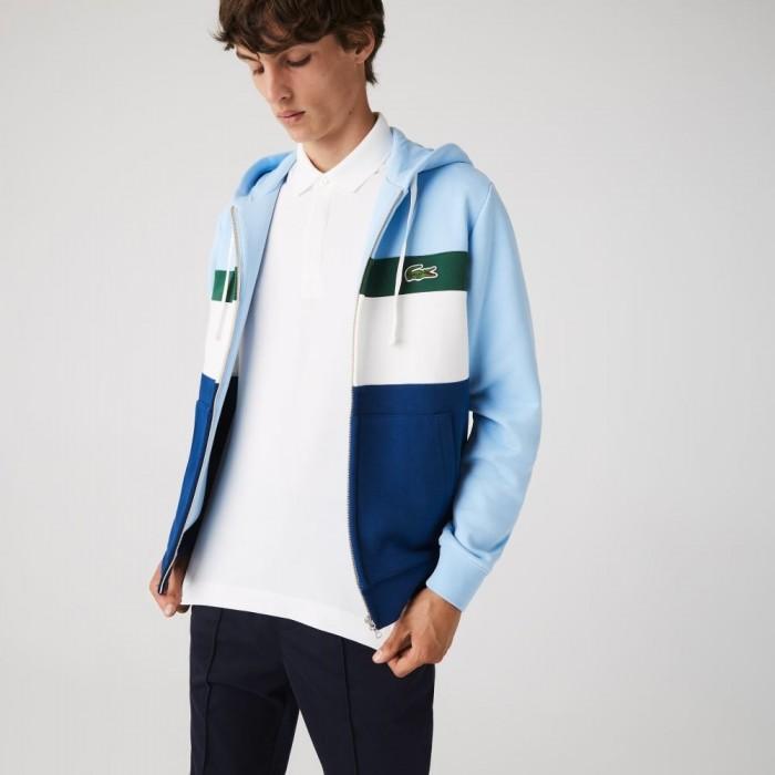 Sweatshirt Lacoste SH2176 9A0 Bleu Blanc Vert Bleu