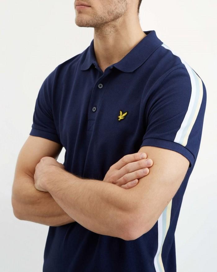 Side Stripe Polo Shirt Lyle & Scott  Navy SP1014 Z99