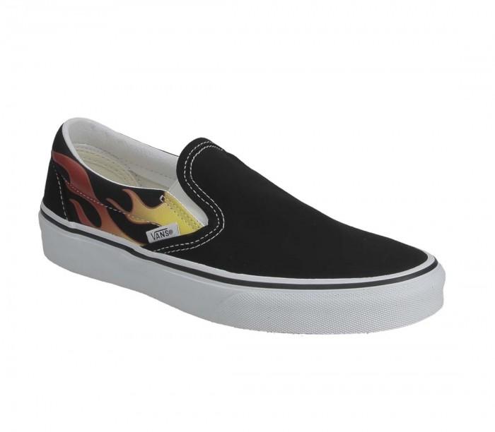 Basket Vans Classic Slip-On Flame Black Black Tr Wht VN0A38F7PHN1