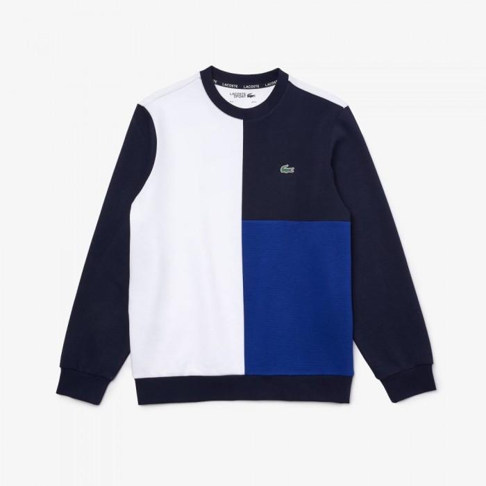 Sweatshirt Lacoste SH2106 9AG Blanc Marine Cosmique