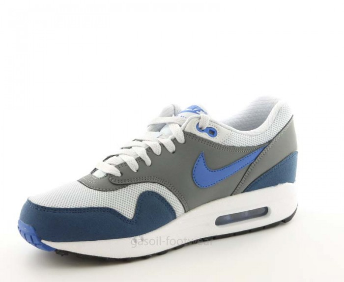 nouvelle collection 453df f088b Nike Air Max 1 Essential geyser grey prize blue 537383 040 ...