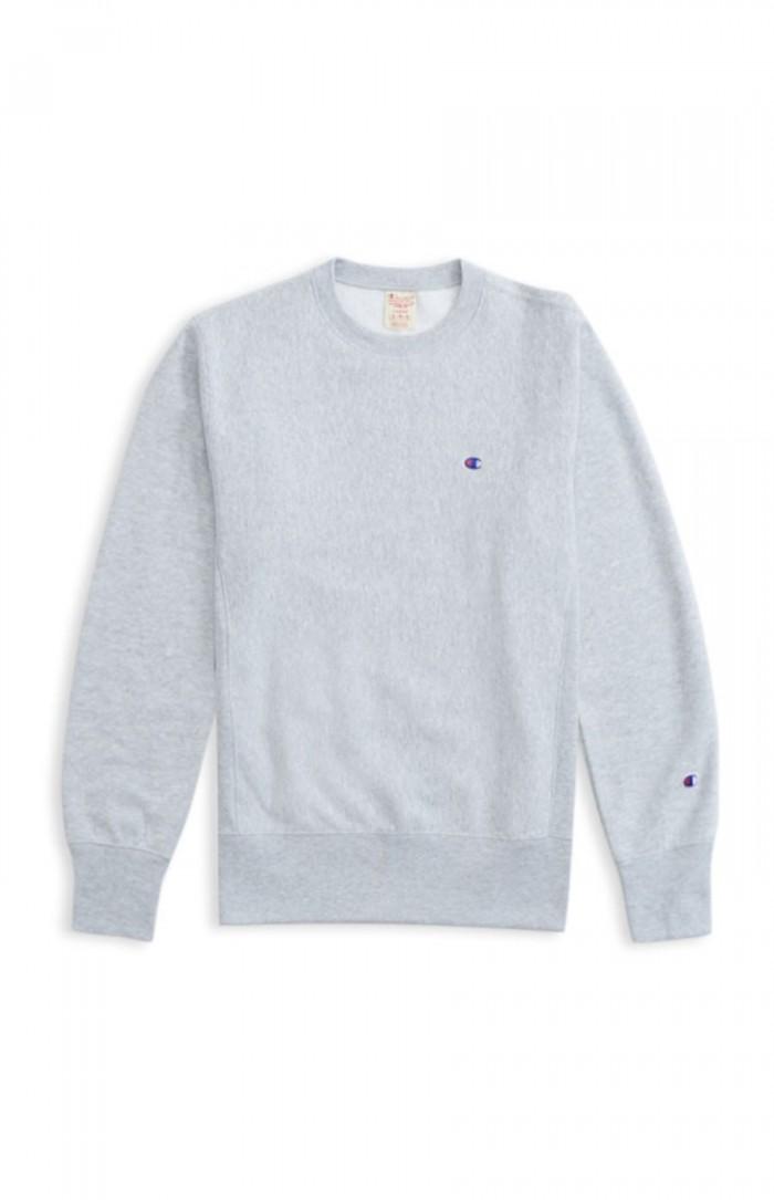 Sweatshirt Champion Europe crewneck small logo 212572 EM004 grey Limited Edition