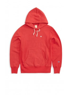 Sweatshirt Champion Europe hooded small logo 212575 MS038 AMB Red Limited Edition