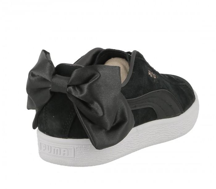 Puma suede Bow wn's puma black puma black 367317 04 vente en