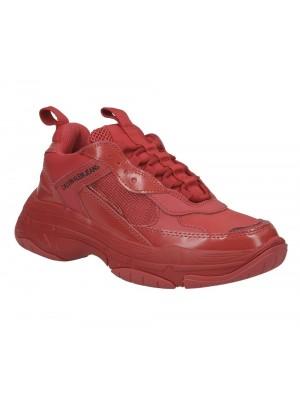Basket dame Calvin Klein Jeans Maya nylon metal calf nappa tomato R7797 TMT