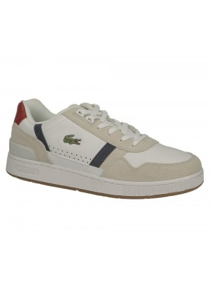 Basket Lacoste T-Clip 0120 2 Sma Wht Nvy Red 740SMA004840703