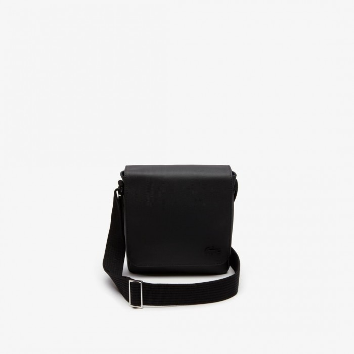 Sac Lacoste NH2341HC 000 black flap crossover bag