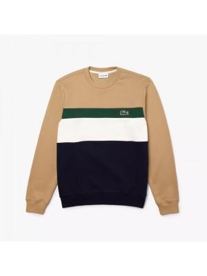 Sweatshirt Lacoste SH2175 9A1 Marine Farine Vert Viennois