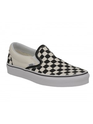 Vans classic slip on black white Checkerboard white noir blanc VN00EYEBWW1 color Noir