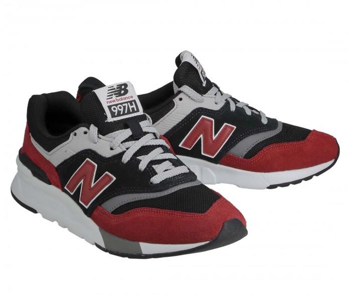 New Balance CM997 HVP black red  Suede Mesh