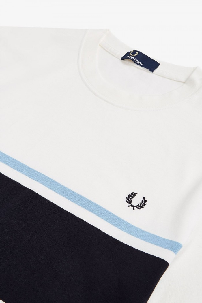 T-shirt Fred Perry Colour Block Snow White M5574 129