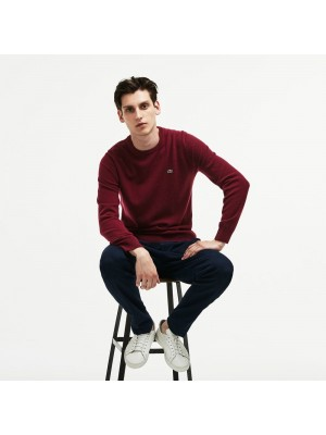 Pull Lacoste AH0841 at6 bordeaux marine farine