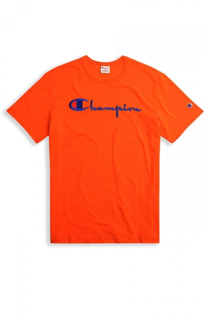 T-shirt Champion big logo Crewneck 210972 BS501 OGC orange Europe Limited Edition