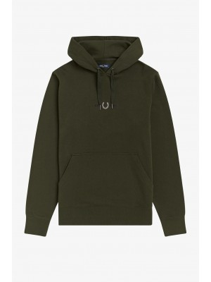 Sweatshirt Fred Perry à capuche graphique Hunting Green M1645 408