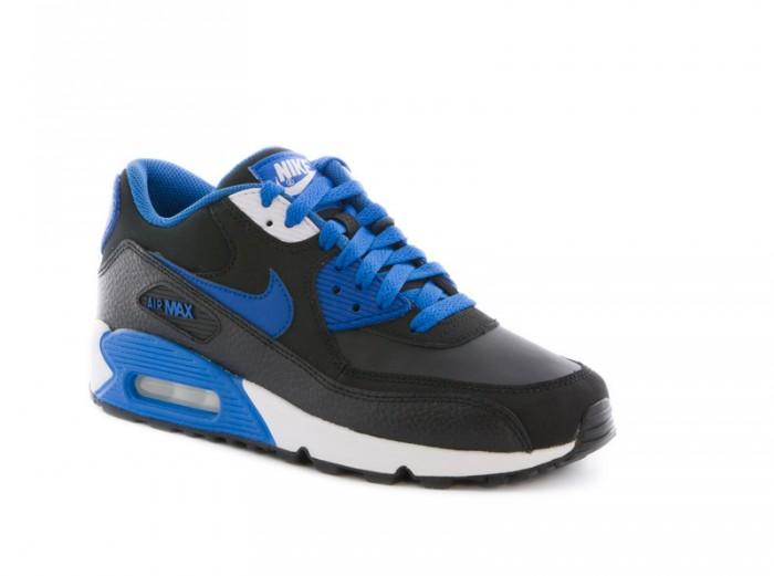 meilleur site web 2bdc0 bac5a Nike Air Max 90 GS black military blue white 307793 089 ...