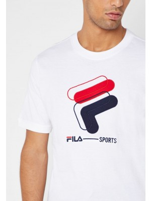 Fila T-shirt archive graphic tee LM911285 100 white