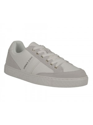 Versace Jeans Linea F. cassetta pers Dis 3 Matt Pu Suede white E0YTBSF3 70744 003