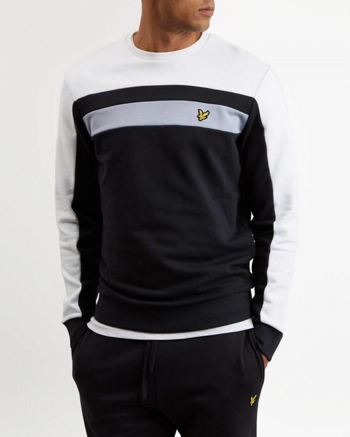 Sweatshirt Lyle & Scott Colour Block True Black ML1021V 572