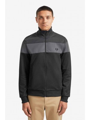 Fred Perry track Jacket Gun Metal J7503 G85