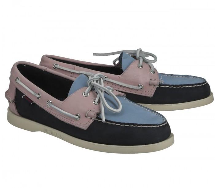 Sebago Docksides Portland Archive blue pink lt blue 7111PSW A5Q