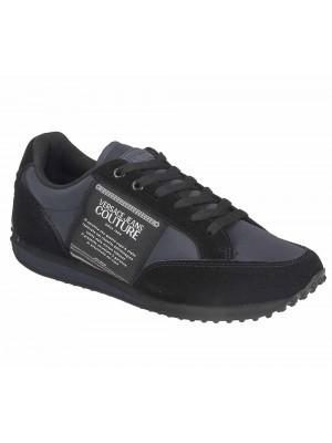 Basket Versace Jeans Couture Linea Fondo Spyder Dis.4 Nylon Tag Suede Navy Black E0YUBSE4 71243 MFZ
