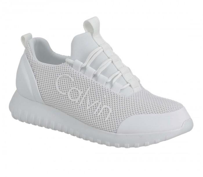 Basket dame Calvin Klein Jeans Runner Sneaker Laceup YAF YW0YW00165 Bright White