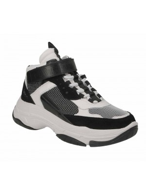 Basket Calvin Klein Jeans Mordikai White Black Suede Nappa B4S0134 111