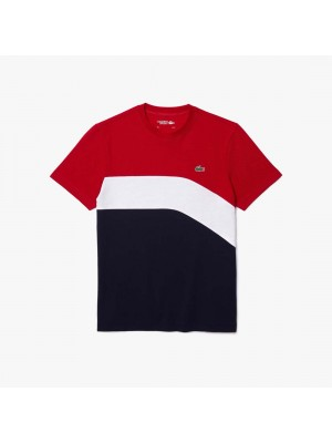 T-shirt Lacoste TH9656 4FV Ruby White Navy Blue