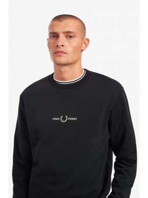 Sweatshirt Fred Perry graphique black M1635 102