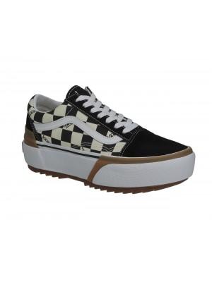 Basket Vans Old Skool Stacked Checkerboard muti true  VN0A4U15VLV1