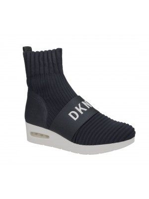 DKNY Anna Slip On Wedge K3873121 Ribber Knit Navy NVY