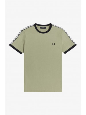 Fred Perry Taped Ringer T-Shirt Steel Seagrass M6347 M37