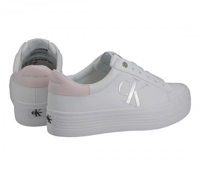 Basket Calvin Klein Jeans Vulcanized Flatform Laceup YW0YW00067 YAF Bright White