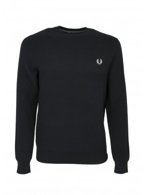 Fred Perry K9541 102  textured stripe jumper black