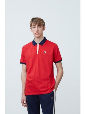 Polo Fila  LM161RM5 640 vintage chinese red navy