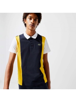 Polo Lacoste Sport YH7349 1MN Navy Blue Broom White