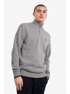 Sweatshirt Demi Zippé Fred Perry M1708 420 Steel Marl