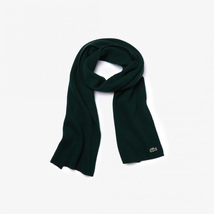 Écharpe Lacoste RE2217 YZP vert
