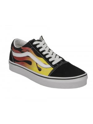Vans Old Skool flame black black tr white VN0A38G1PHN1