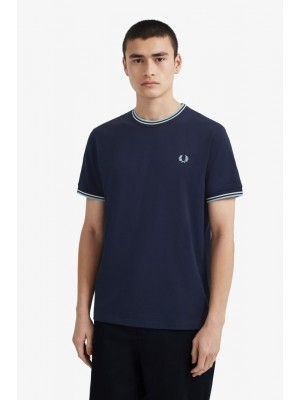 T-shirt Fred Perry Twin Tipped Carbon Blue M1588 584