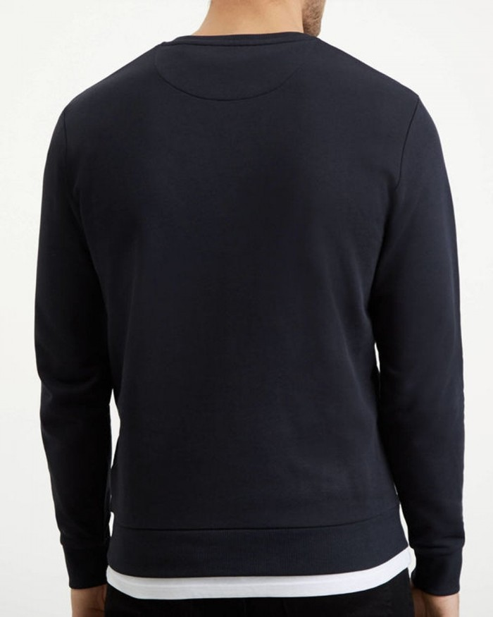 Sweatshirt Lyle & Scott Logo True Black ML1022V 572